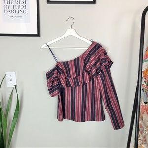 WAYF One Sleeve Top New with Tags